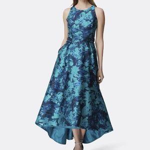 NWOT Tahari Mikado Floral Gown